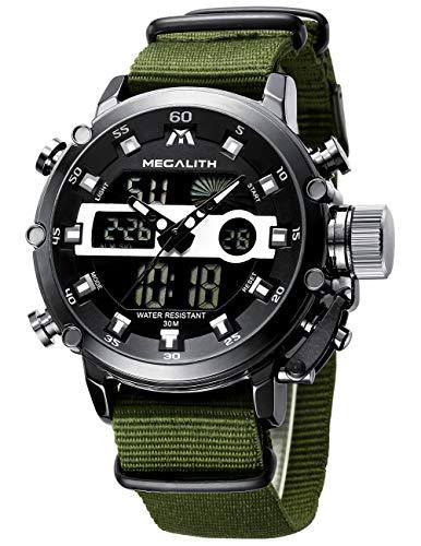 MEGALITH Herrenuhr Militär Digitaluhr Sportlich LED Groß Zifferblatt Uhren fur Männer Digital...